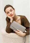 Фото Кожаная женская сумка Элис серая