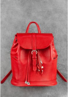 Кожаный рюкзак Олсен рубин + кошелек 2.0!