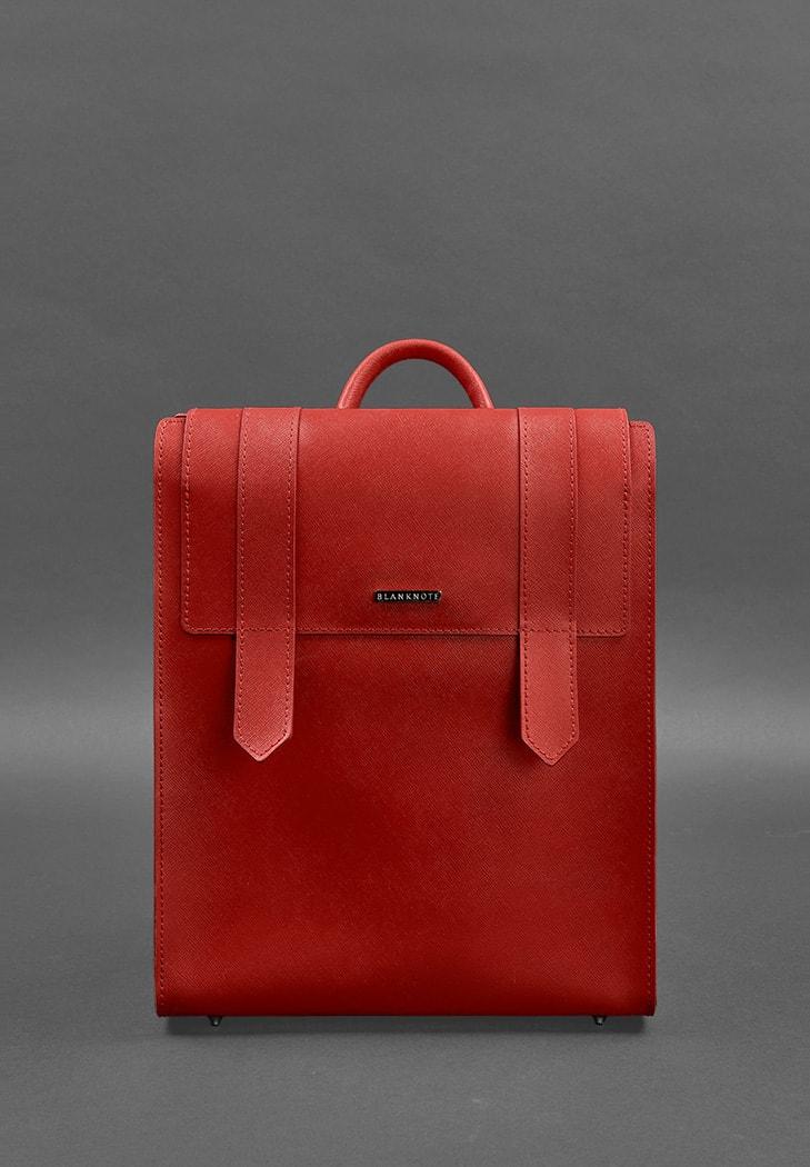 Жіночий шкіряний червоний рюкзак Blackwood - BN-BAG-29-bw-red
