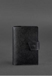 Кожаная обложка для паспорта 4.0 черная Blackwood