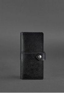 Кожаное женское портмоне 3.1 черное Blackwood