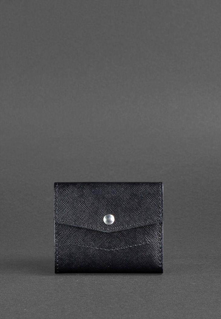 Фото Кожаный кошелек 2.1 черный Blackwood