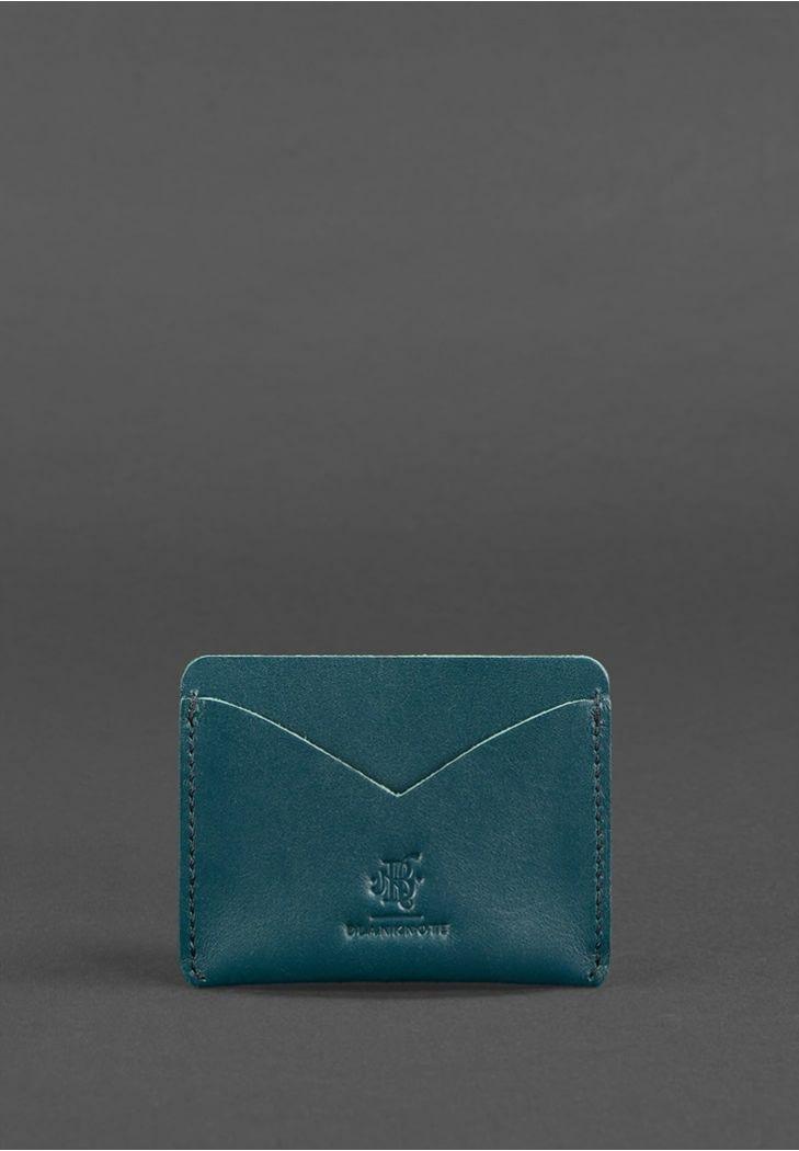Фото Женский кожаный кейс-слим 5.0 зеленая