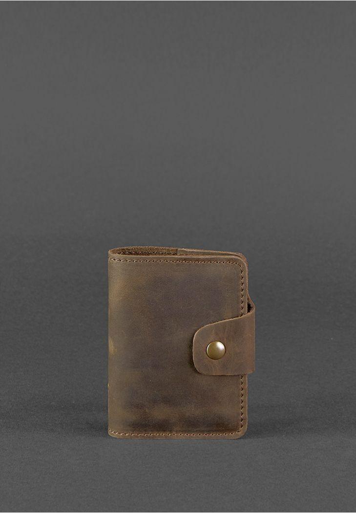 Фото Кожаный кард-кейс 7.1 (Книжечка) темно-коричневый