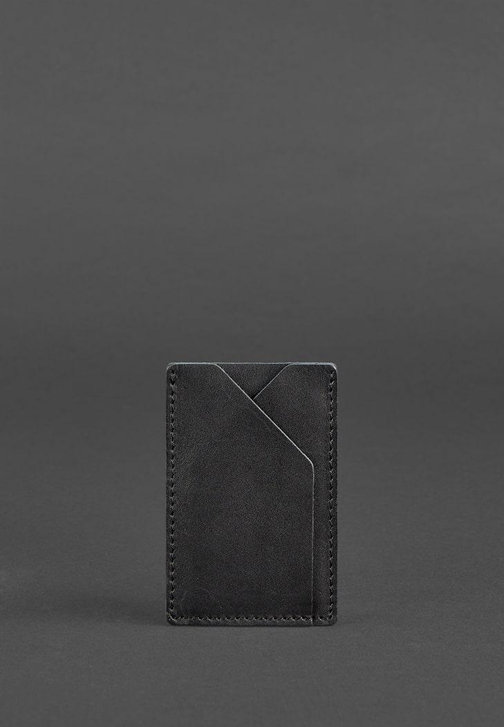 Фото Кожаный кард-кейс 8.0 черный