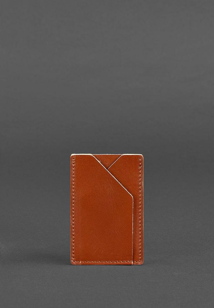 Фото Кожаный кард-кейс 8.0 светло-коричневый