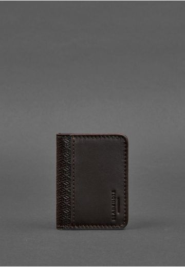 Мужская кожаная обложка для ID-паспорта и водительских прав 4.0 карбон коричневая