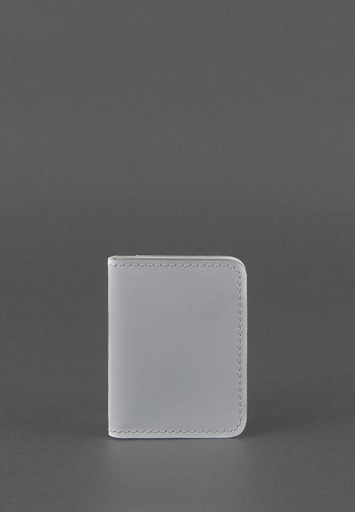 Фото Женская кожаная обложка для ID-паспорта и водительских прав 4.0 Серая