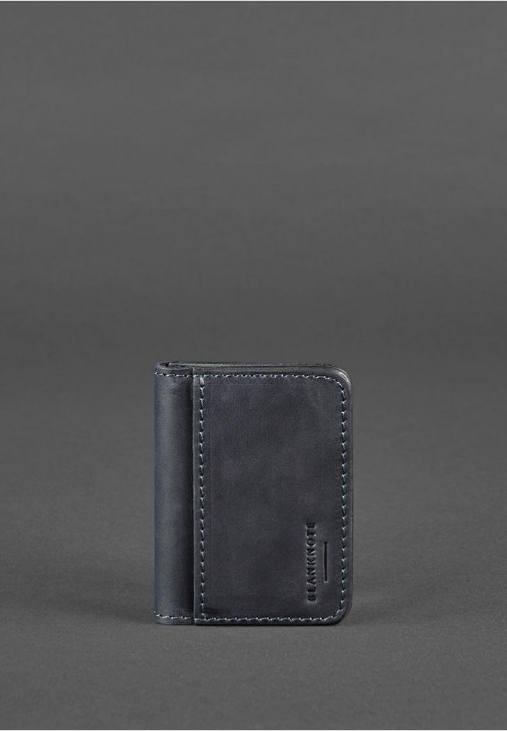 Фото Кожаная обложка для ID-паспорта и водительских прав 4.0 синяя
