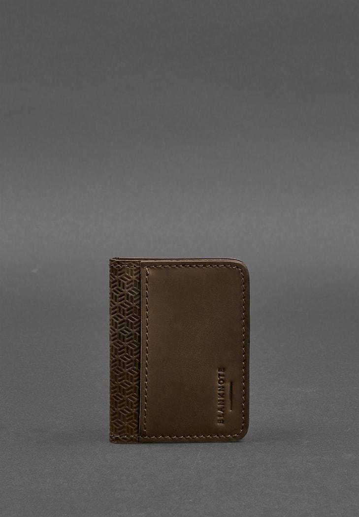 Фото Обложка для водительских прав 4.0 Карбон Орех - коричневая BlankNote
