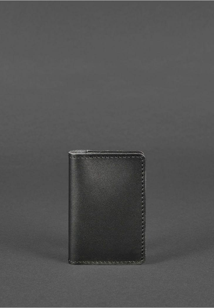 Фото Кожаный кард-кейс 6.0 черный
