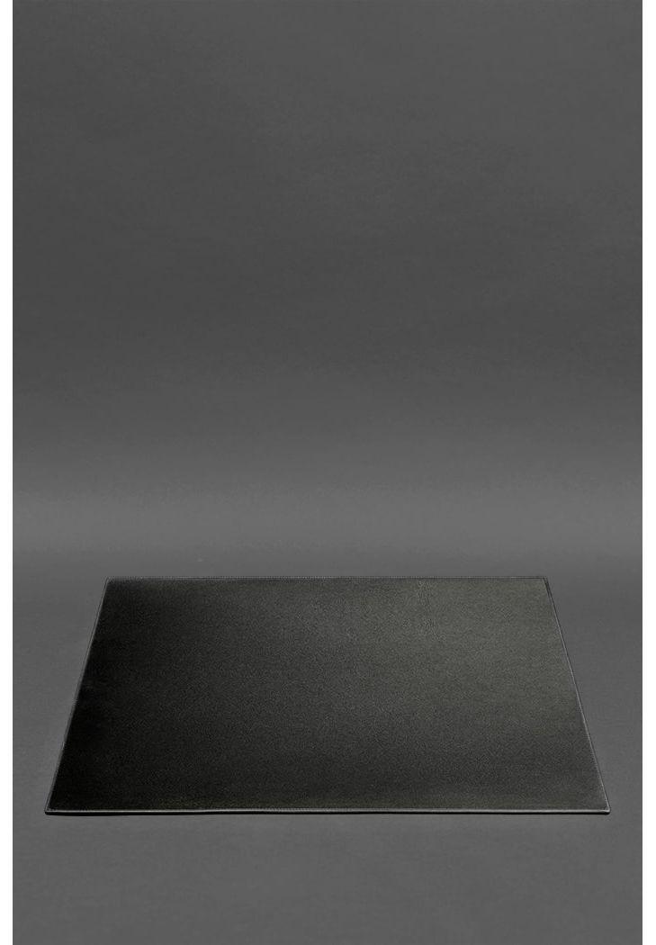 Фото Накладка на стол руководителя - Кожаный бювар 1.0 Черный  Краст BlankNote