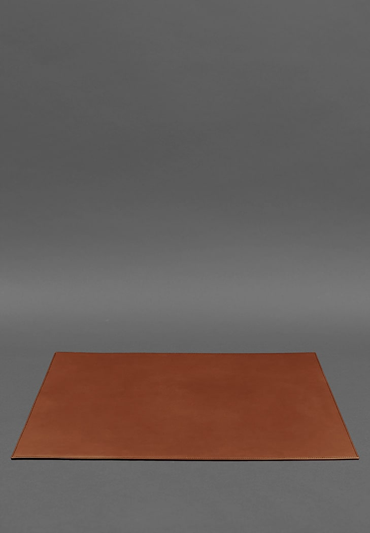 Фото Накладка на стол руководителя - Кожаный бювар 1.0 Светло-коричневый (BN-BV-1-k)