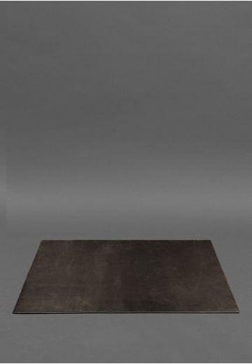 Накладка на стол руководителя - Кожаный бювар 1.0 Темно-коричневый Crazy Horse