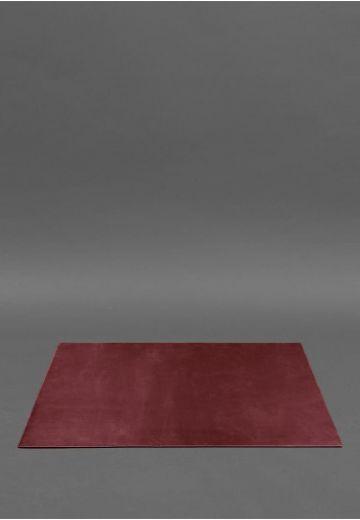 Накладка на стол руководителя - Кожаный бювар 1.0 Бордовый Crazy Horse