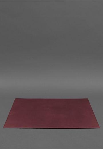 Накладка на стол руководителя - Кожаный бювар 1.0 Бордовый