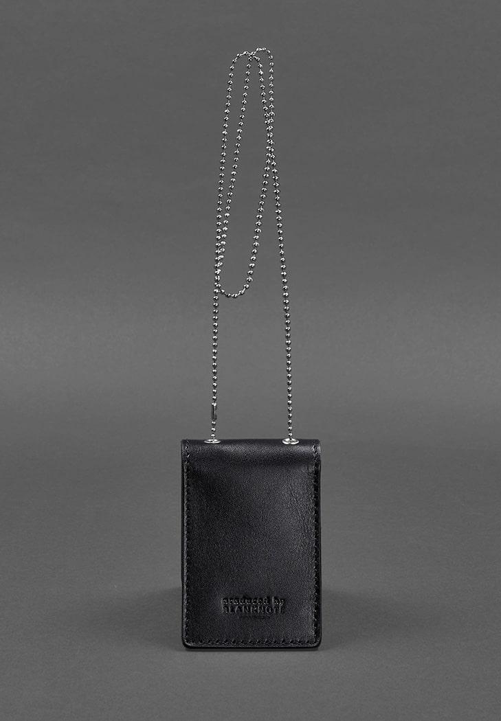 Фото Кожаная обложка на цепочке для удостоверения полиции и жетона