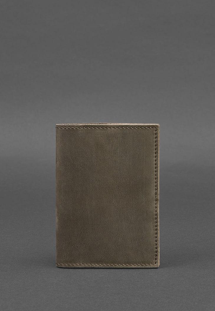 Фото Кожаная обложка для паспорта 1.2 темно-коричневая BlankNote
