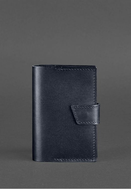 Фото Обложка Для Паспорта 4.0 Темно-Синий BlankNote