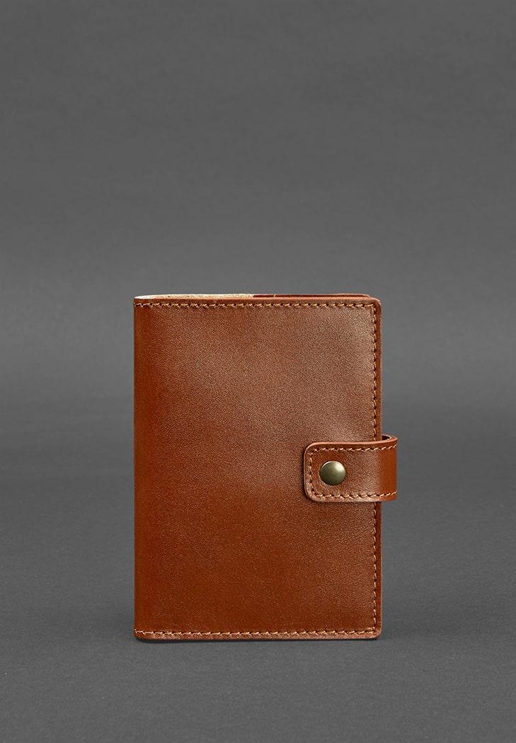 Фото Кожаная обложка для паспорта 5.0 (с окошком) светло-коричневая  BlankNote