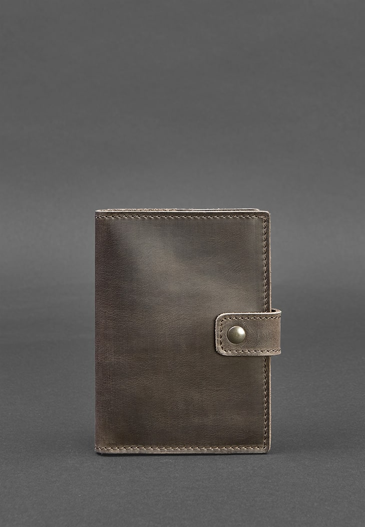 Фото Кожаная обложка для паспорта 5.0 (с окошком) темно-коричневая BlankNote