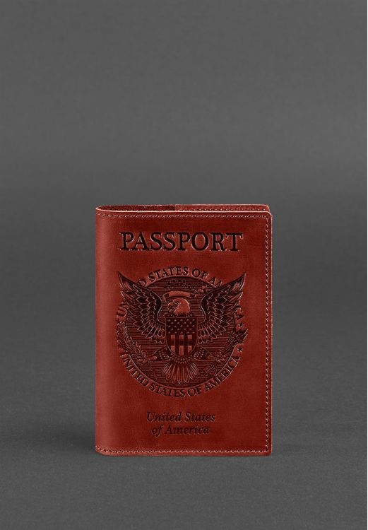 Фото Обложка для паспорта с американским гербом, Коралл BlankNote
