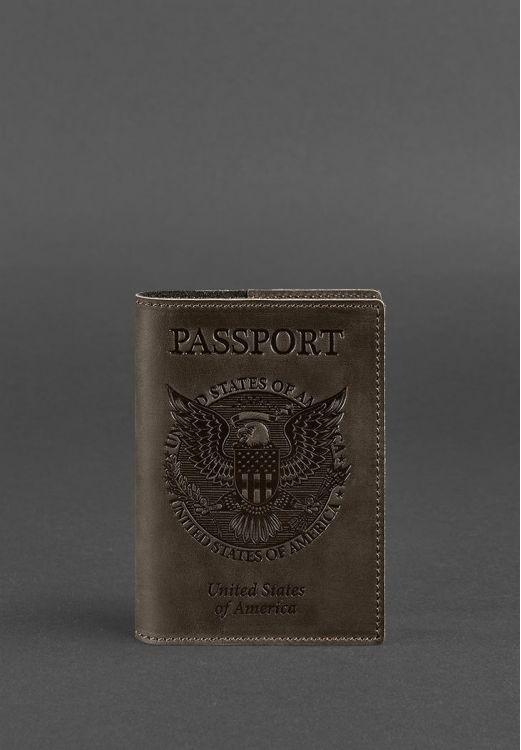 Фото Обложка для паспорта с американским гербом, Орех BlankNote