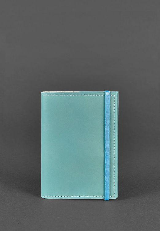 Фото Обложка для паспорта 1.0 Тиффани (кожа) + блокнотик BlankNote