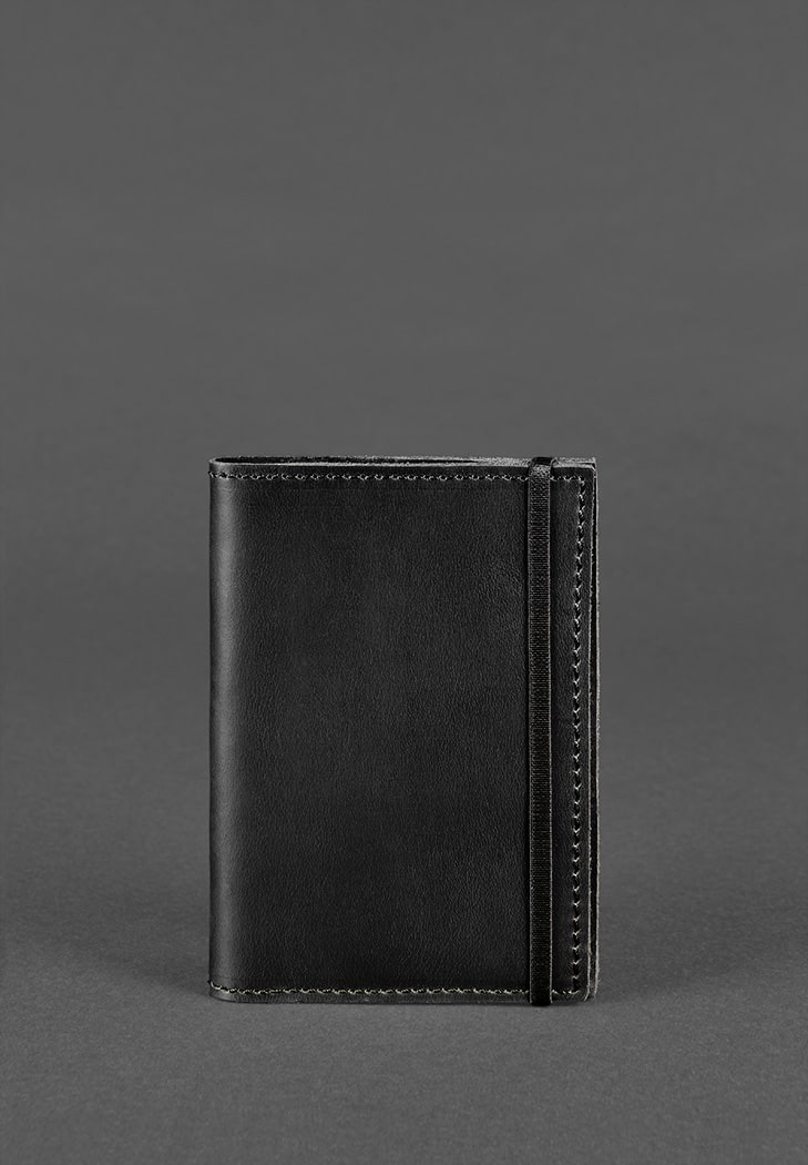 Фото Обложка для паспорта 1.0 Графит (кожа) + блокнотик BlankNote
