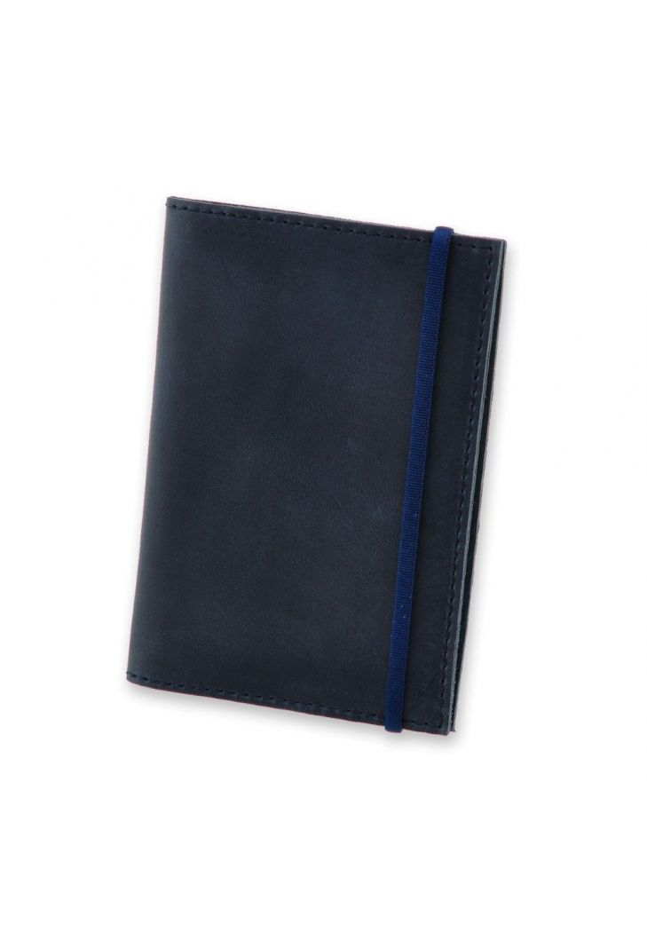 Фото Кожаная обложка для паспорта 1.0 синяя