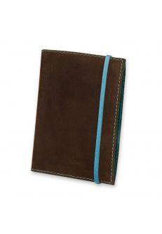 Обложка для паспорта 1.0 Орех-тиффани (кожа) +блокнотик