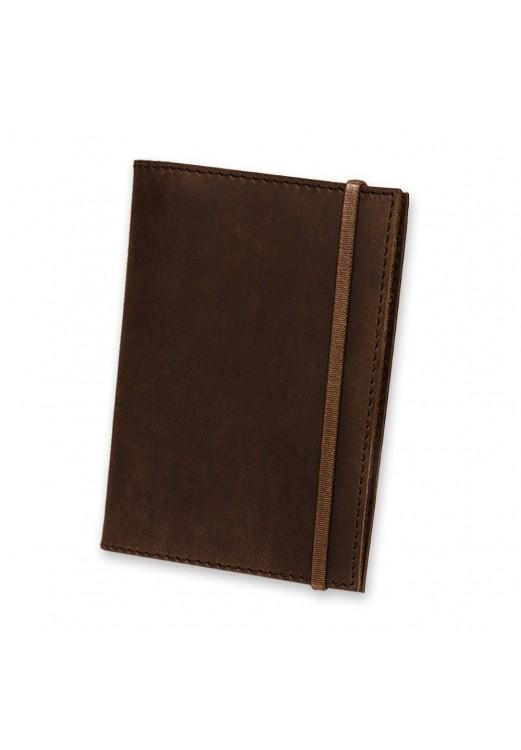 Фото Обложка для паспорта 1.0 Орех (кожа) + блокнотик BlankNote