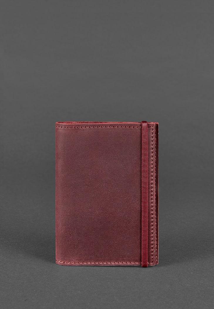 Фото Обложка для паспорта 1.0 Виноград (кожа crazy horse ) + блокнотик BlankNote