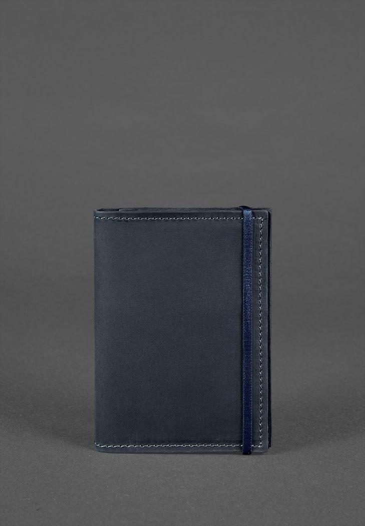 Фото Кожаная обложка для паспорта 2.0 синяя