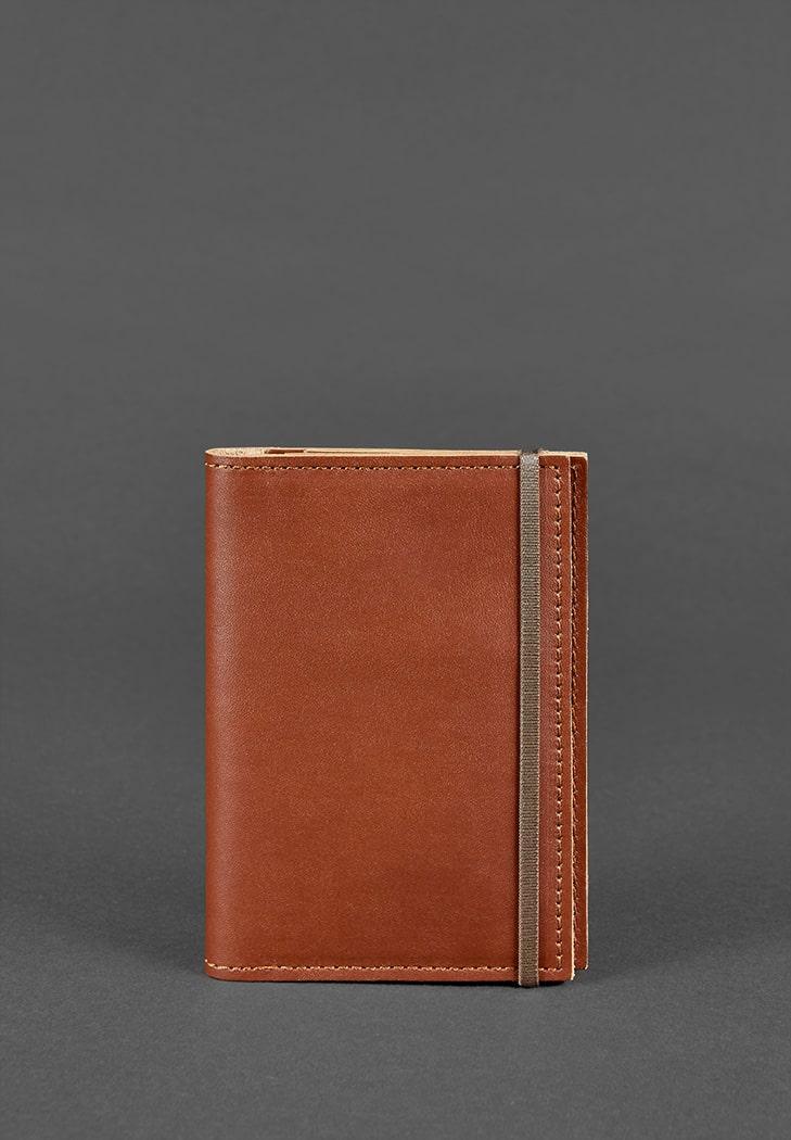 Кожаная обложка для паспорта 2.0 светло-коричневая - BN-OP-2-k