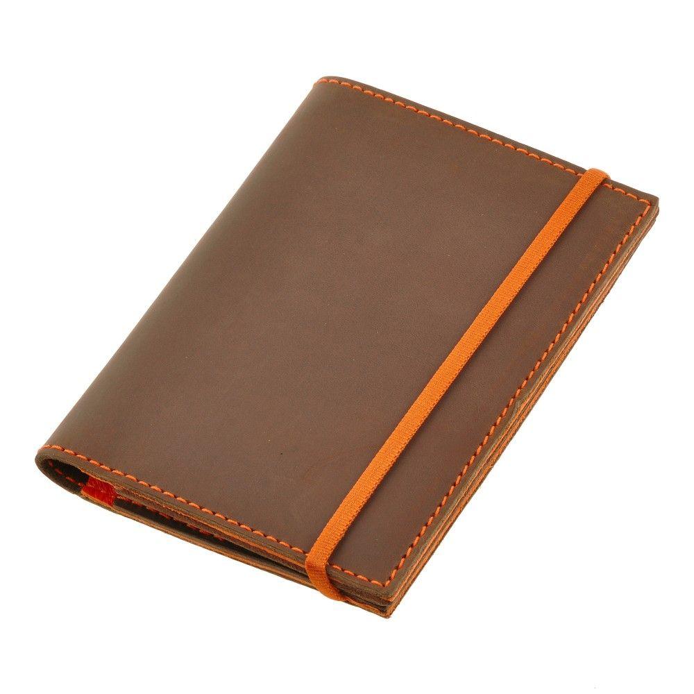 Обложка для паспорта с разводами оранжевого цвета Dr.Koffer X510130-25-09