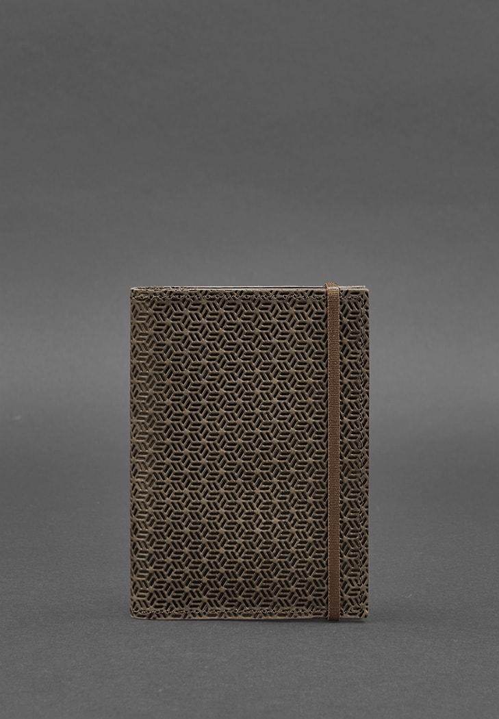 Фото Кожаная обложка для паспорта 2.0 Карбон темно-коричневая
