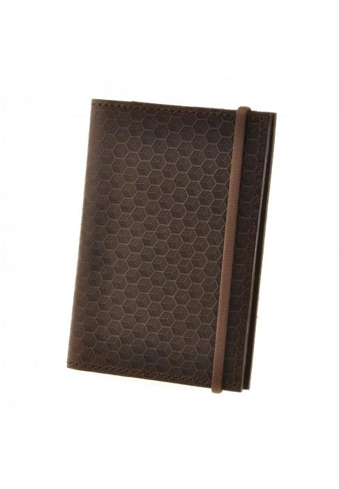 """Обложка для паспорта 2.0 """"Карбон"""" Орех (кожа)"""
