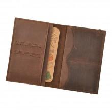 Обложка для паспорта 2.0 Орех (кожа) + блокнотик