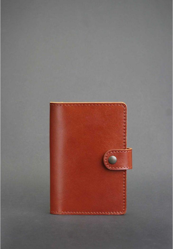 Фото Обложка для паспорта 3.0 коньяк (кожа) BlankNote