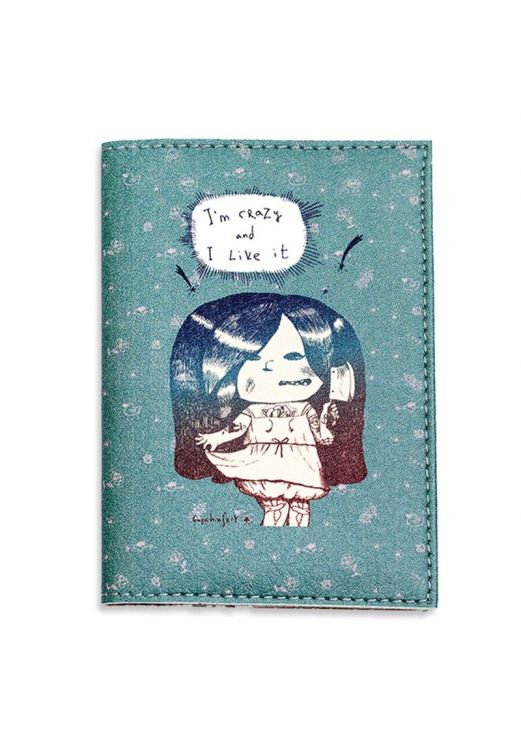 """Фото Обложка для паспорта """"I'm crazy and I Like it!"""" + блокнотик BlankNote"""