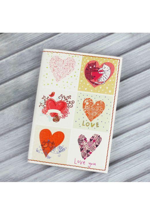 """Фото Обложка для паспорта """"Love is in the air"""" + блокнотик BlankNote"""