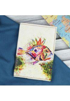 """Обложка для паспорта """"Морское дно"""" + блокнотик"""