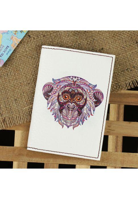 "Фото Обложка для паспорта ""Ethnic monkey"" + блокнотик BlankNote"