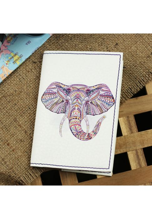 "Фото Обложка для паспорта ""Ethnic elephant"" + блокнотик BlankNote"