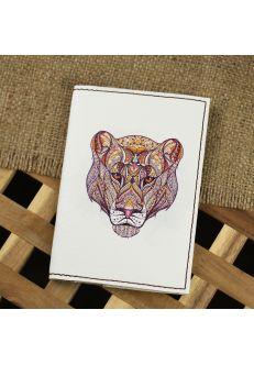 Обложка для паспорта Ethnic puma + блокнотик