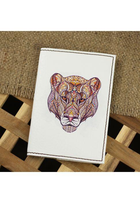 """Фото Обложка для паспорта """"Ethnic puma"""" + блокнотик BlankNote"""