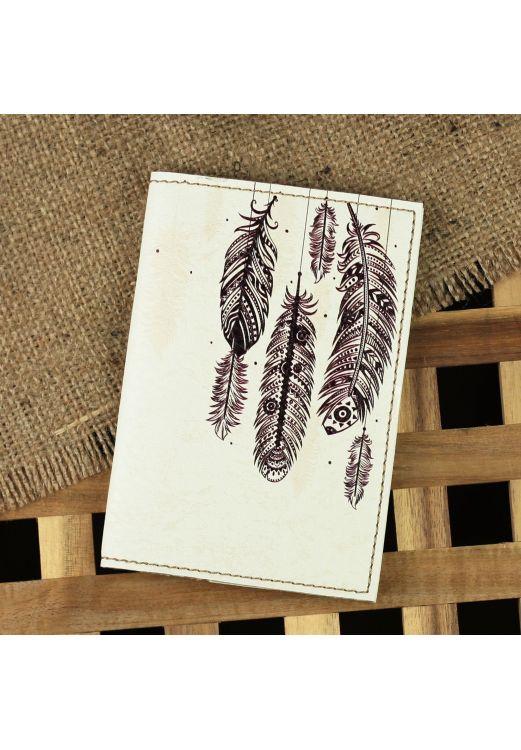"""Фото Обложка для паспорта """"Воздушные перья"""" + блокнотик BlankNote"""