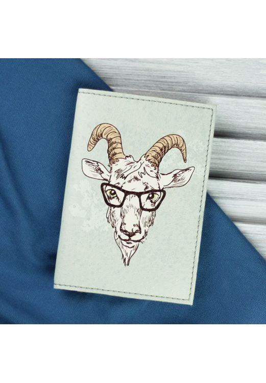 "Фото Обложка для паспорта ""Hipster goat"" + блокнотик BlankNote"