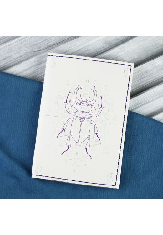 "Фото Обложка для паспорта ""Скарабей"" + блокнотик BlankNote"